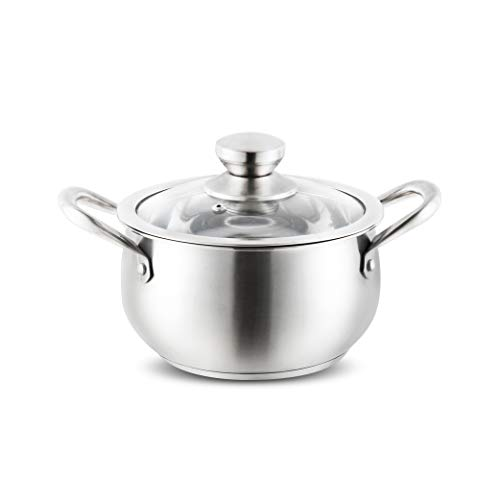 304 en acier inoxydable pot de soupe épaississement ménage ragoût pot de soupe bouillie de nouilles bouillies petit pot Cook Cook (Capacité : 5L)