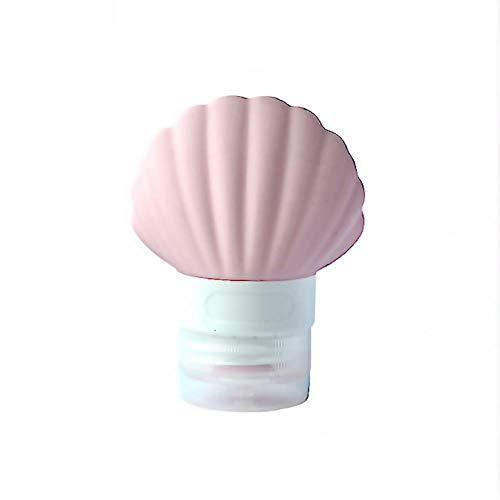 Mignon Vide Silicone Lotion shampooing Bain conteneur Mignon en Forme de Coque conteneur Portable, Rose 2 pcs, 90 ML