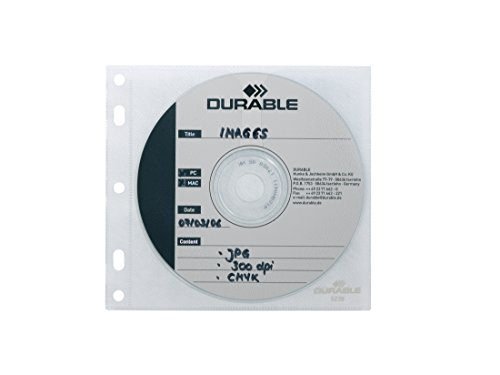 "Durable CD-Hülle ""CD/DVD COVER FILE"", transparent, 10 Stück, 5239-19"