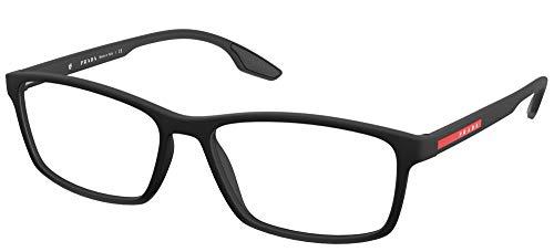Prada Gafas de Vista Linea Rossa LINEA ROSSA VPS 04M Black Rubber 56/16/145 hombre
