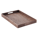 Wooden Serving Trays - Feathergrain Wooden Serving Trays with Handles | The Container Store