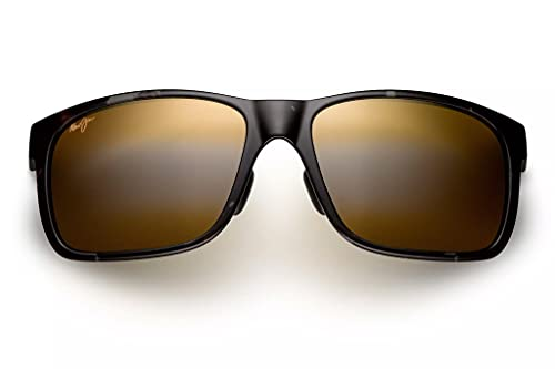 Maui Jim Red Sands w/ Patented PolarizedPlus2 Lenses Polarized Lifestyle Sunglasses, Grey Tortoise/Hcl Bronze Polarized, Large