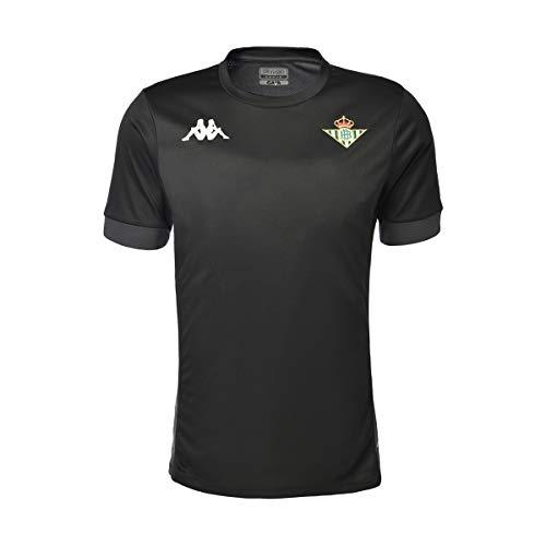 Kappa Dervio Betis Camiseta, Hombre, Negro/Gris, 4XL