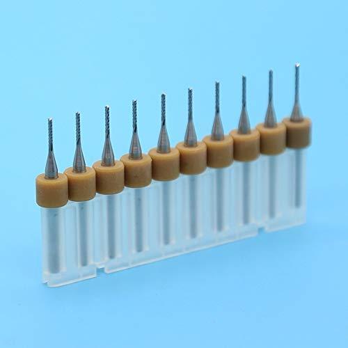NO LOGO CCH-PCBZT, 1,1mm 10er PCB-Mais-Fräser Hartmetall-Mais-Schaftfräser CNC-Fräser Holzwerkzeug PCB Bohrer (Size : 1.2mm 10PCS)