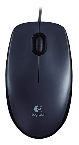 Logitech M90 - Ratón con Cable, Color Negro