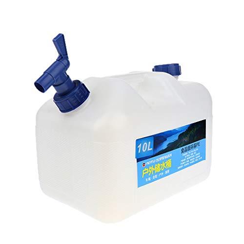 F Fityle Cubo de Agua para Portador de Agua Grande para Camping 10L con Grifo, 30 X 25 Cm