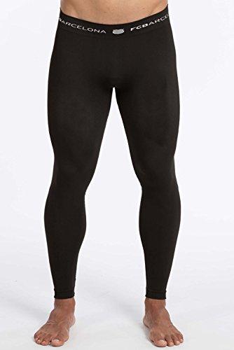 Fc Barcelone - Pantalón térmico para niño, Niñas, Color Negro, tamaño 10/12 ANS