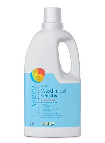 Waschmittel Sensitiv: 100{ae38fdadd1233e5b2d7e393fa0bbb7404dfb00521aa53dd63b50c2f1c8485241} biologisch abbaubar