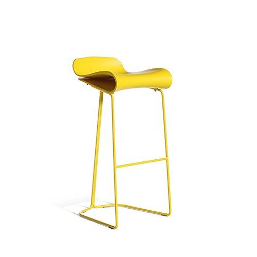 CGN Sièges hauts, Chaise de bar Chaise de bar Chaise de bureau avant Maison Café Bar Créatif Moderne Simple 50-76cm la satisfaction (Couleur : Noir, taille : 66cm)