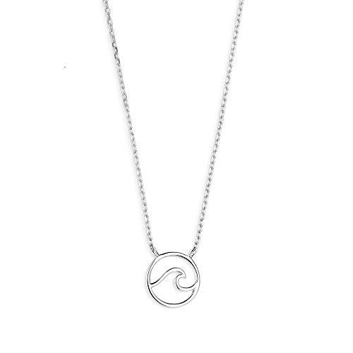 XENOX XS3173 Damen Collier Welle Sterling-Silber 925 Silber 45 cm