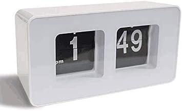 Brief Stylish Big Character Automatic Flip Clock Classic Home Office Furni K4S3