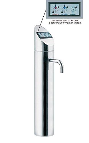 Elektronische 3-Wege-Sodaarmatur / Zapfhahn POINT DS mit TOUCH DISPLAY für Untertisch-Wassersprudelanlagen liefert stilles, gekühltes und Sprudelwasser. Top Qualität. Top Preis.