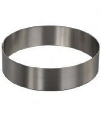 Round Cake Mold/Pastry Ring, S/S, Heavy Gauge. (8' x 2')