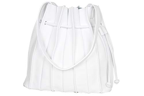 AmbraModa GL034 - Bolso de mano shopper bolso de hombro para mujer de piel auténtica
