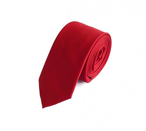Fabio Farini - einfarbige und elegante Krawatte in verschiedenen Farben und Breiten zur Auswahl Rot 6cm