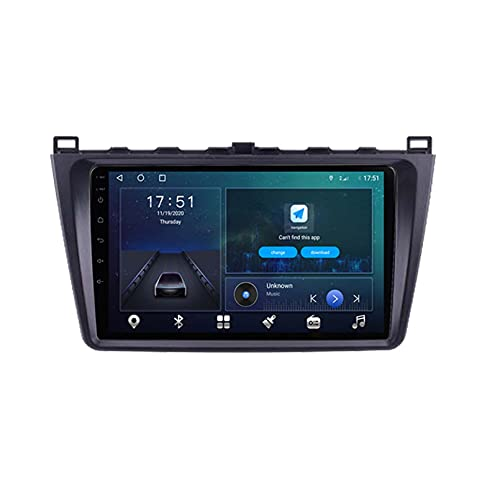 GOHHK Android 10.0 Coche Radio Multimedia Player GPS WiFi Carplay Stereo para Mazda 3 2004 2005 2006 2007 2007 2009 2010 2011 2012 2013 Auto Video out OBD(Size:Ocho núcleos,Color:WiFi:4GB+64GB)