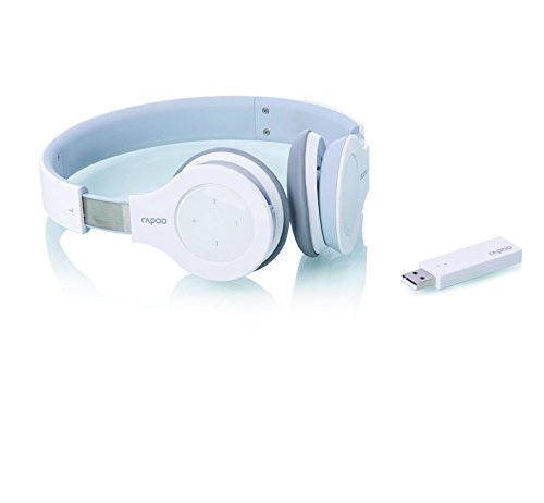 Rapoo H8020 Wireless Stereo Headset/ Kopfhörer (2,4 GHz, integriertes Mikrofon, Touch-Bedienung) weiß