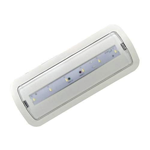 Luz de Emergencia LED empotrable o superficie 3W, 200 lumenes, 3 Horas de Autonomía. Color Blanco Frío (6500K).
