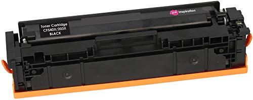 INK INSPIRATION Tóner Compatible con HP 203X CF540X Color Laserjet Pro M254dw M254nw MFP M280nw M281fdn M281fdw   Negro: 3200 páginas