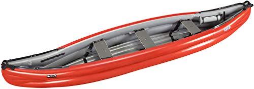 Gumotex Scout Standard 3 Personen Schlauchkanu aufblasbar Schlauchboot Kanadier, Farbe:Rot