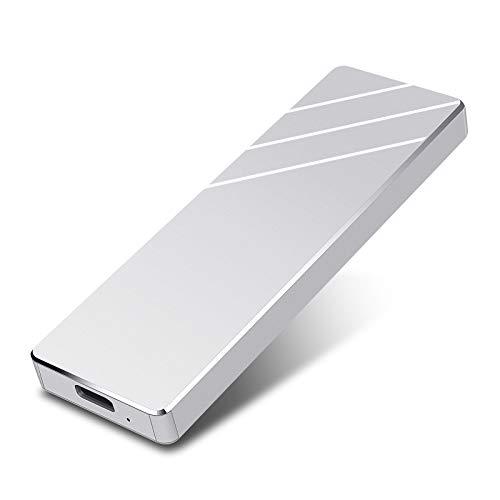Disco Duro Externo 1 TB,Portátil Type C USB3.1 Disco Duro Externo para PC,Xbox One, TV(1TB,Plata)