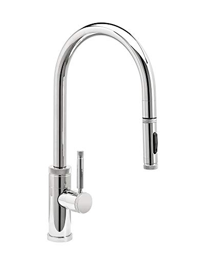 Waterstone 9400-PN Industrial PLP Pulldown Faucet w/Toggle Sprayer Polished Nickel