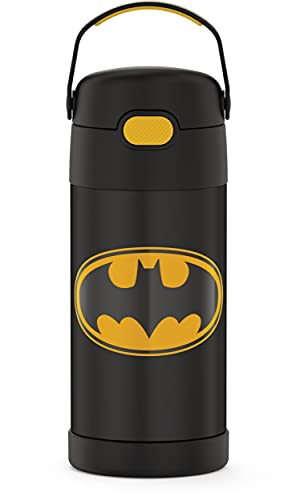 THERMOS FUNTAINER 12 Ounce Stainless Steel Vacuum Insulated Kids Straw...