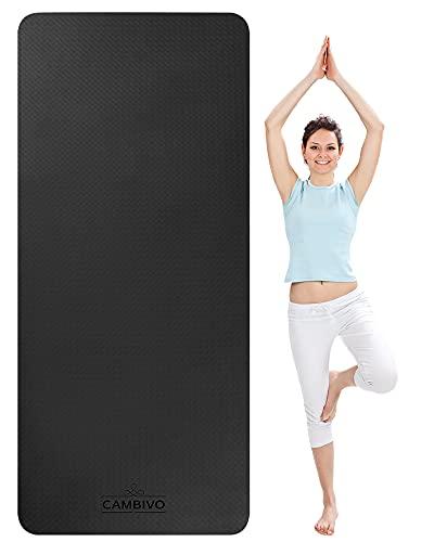 CAMBIVO Yogamatte Rutschfest, Sportmatte Fitnessmatte Breit (183cm x 81cm x 6mm), Yoga Matte Gymnastikmatte aus TPE für Reise, Sport, Yoga, Pilates, Workout, Zuhause