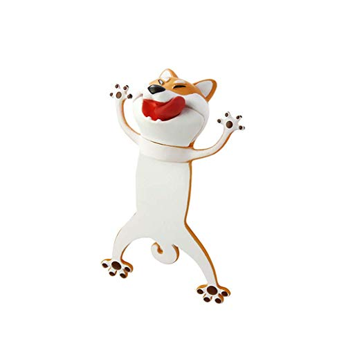 Cartoon Bookmarks, 3D Stereo Wacky Animal Book Mark, PVC Ouch Series, Funny Cute creatived Gifts (Dog)