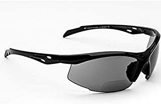 Bifocal Safety Glasses SB-9000 PS Smoke, 2.00