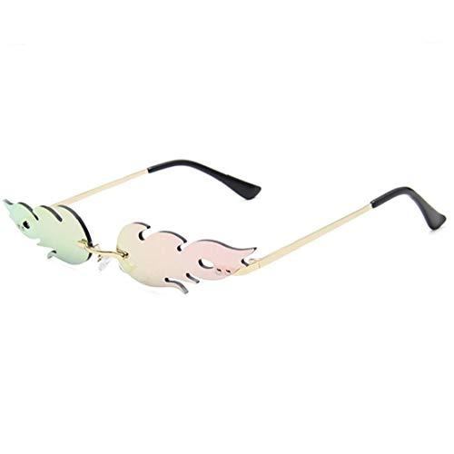 Llama del Fuego Gafas De Hombres Mujeres Sin Rebordes De Onda Eyewear Glasses Reduzca