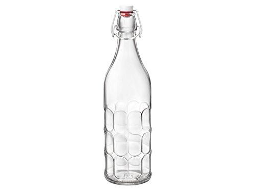 Bormioli Rocco 1205710 Bottiglia per Acqua Frizzante Maresca da 1 lt, Vetro, Trasparente