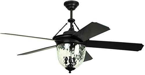 Litex E KM52ABZ5CMR Knightsbridge Collection 52 Ceiling Fan, Aged Bronze Finish with Special Aged Bronze ABS Blades