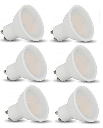 V-Tac LED 3 W Gu10 Glühlampen - 6er Pack - GU10 Sockelhalterung - Warmweiß 3000 K/210 Lumen
