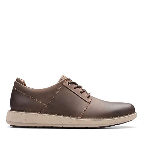 Clarks Un Larvik Lace, Zapatos de Cordones Derby para Hombre, Piel marrón marrón, 44 EU