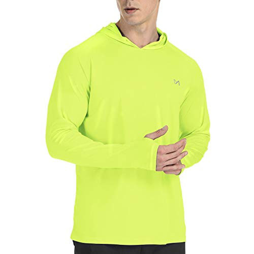 MEETYOO Rashguard Uomo, Maglia Maniche Lunghe Maglietta Nuoto UPF 50 Protezione Solare UV T-Shirt per Running Surf Pesca Sportivo
