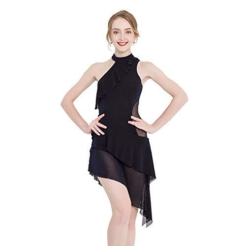 ROYAL SMEELA Traje de Baile Latino Sexy Vestido de Baile de Malla...