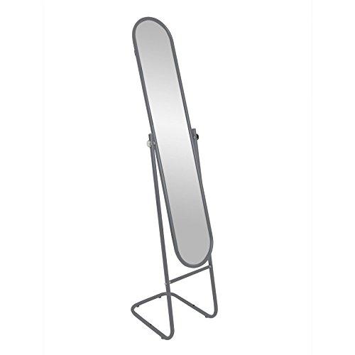 Harbour Housewares Specchio da Terra Regolabile - Struttura Ovale - Argento