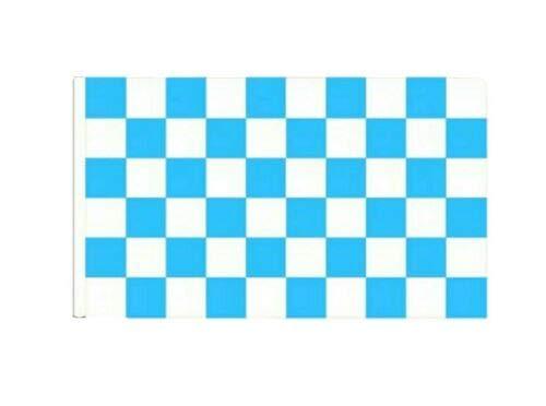 FlagSuperstore© Bootsflagge, Himmelblau & Weiß, kariert, 45 x 30 cm, für Baumhäuser, Wohnwagen, Ärmel 45 x 30 cm, kariert