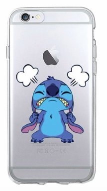 Art-design Custodia iPhone 7 / iPhone 8 Stitch & Lilo Non Felice Cover Caso Silicone