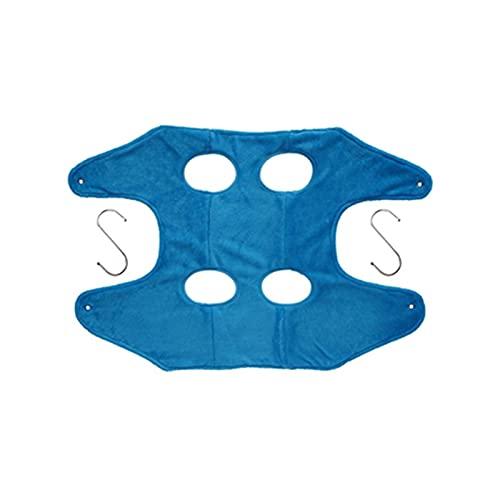 6SHINE Hamaca de perro para gato, bolsa de sujeción para mascotas con perchas y fijación de mascotas, toalla de baño para mascotas, toalla de secado para aseo de baño, corte de uñas (azul, tamaño: L)