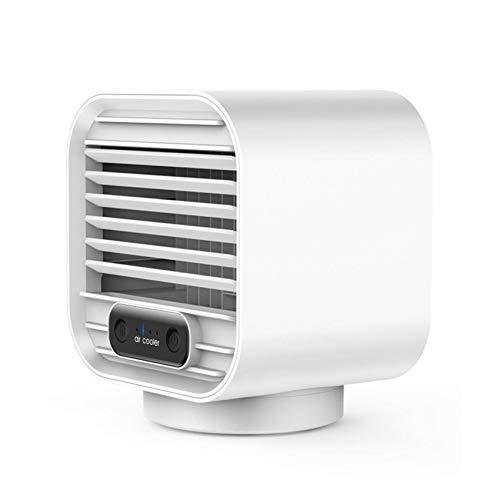 Aire acondicionado portátil, refrigerador Ventilador humidificador USB Refrigerador aire ajustable Fan enfriamiento personal Pequeño purificador refrigeradores evaporativos para dormitorio,White