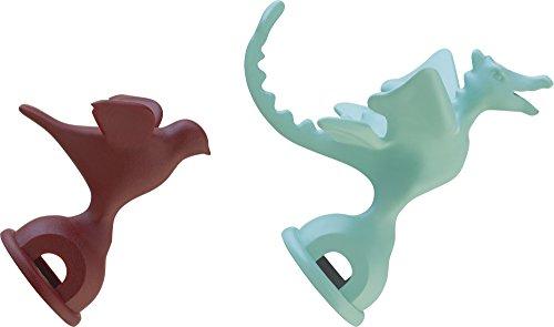 Alessi MGWHS2 2 Pfeifen Polyamid/Kunststoff, Grün/Rot, Edelstahl, 12 x 12.5 x 26 cm