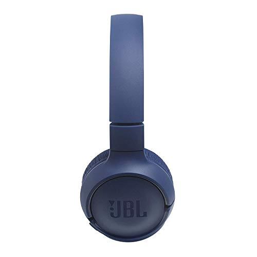JBL Tune500BT Cuffie Wireless Sovraurali con funzione Multipoint e Ricarica veloce, Cuffie On-Ear Bluetooth con connessione a Siri e Google, Fino a 16h di Autonomia, Blu