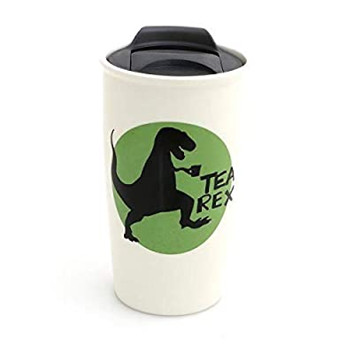Tea Rex Funny Ceramic Travel Mug