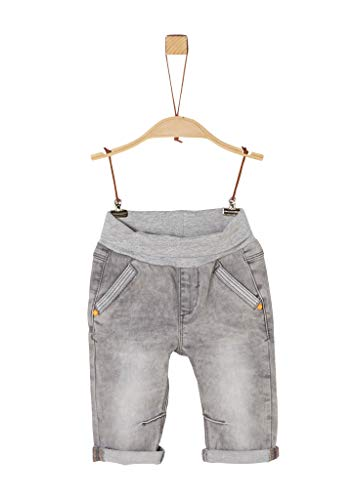 s.Oliver RED LABEL Unisex - Baby Jeans mit Umschlagbund grey 86.REG