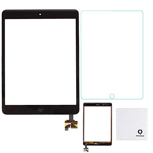 FixCracked for iPad Mini Screen Replacment,Glass Screen Digitizer Complete Full Assembly for iPad Mini 1 & Mini 2(black) + Screen protector