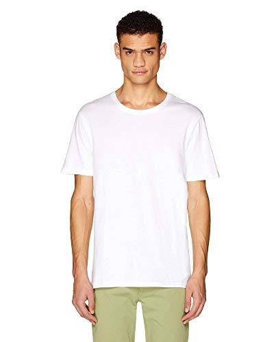 Benetton T-Shirt Jersey, Blanco (Bianco 101), X-Small para Hombre