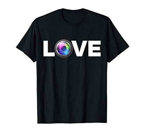 I Love Photography Photographer Gifts Women Men Camera Lover T-Shirt
