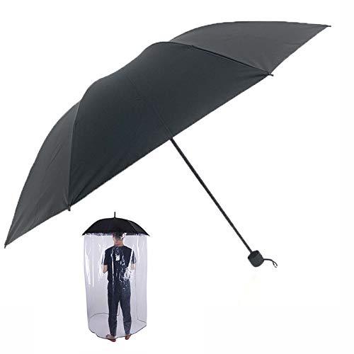 LLGHT Regenschirme Für Regen Reise Regenschirm Winddicht, Snree Guard Regenschirm Kunststoff Transparente Schutzschild Mit Wasserdichter Vorhang Guard-Partition Ganzer Körperschutz